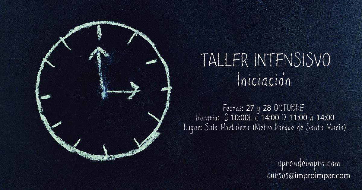 TALLER INTENSIVO iniciación octubre