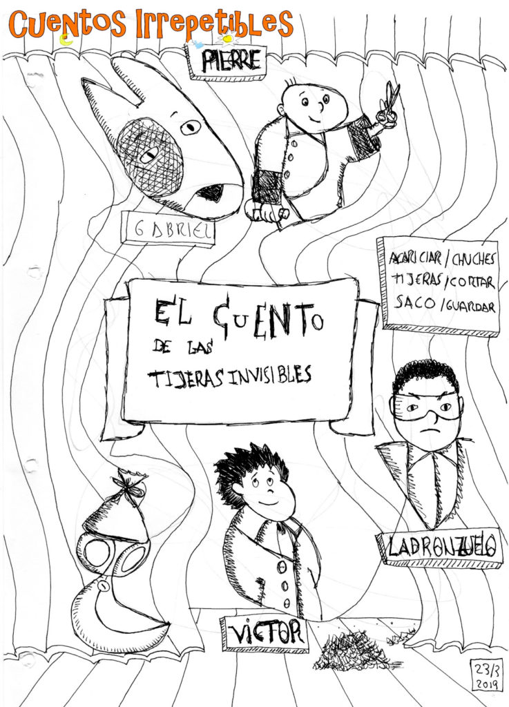 Ilustración El Cuento de las Tijeras Invisibles