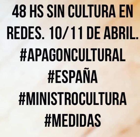 48 horas de #ApagónCultural