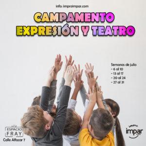 CARTEL Campamento Urbano Verano Expresion Teatro