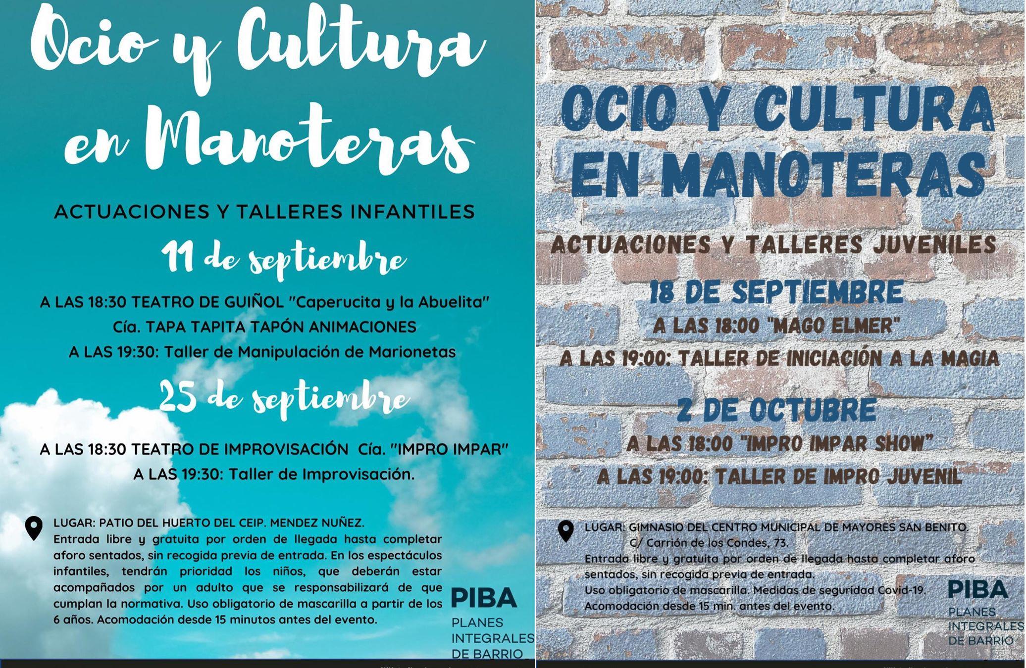 Funciones en Manoteras y talleres de impro infantiles y juveniles los viernes 25 de septiembre y 2 de octubre