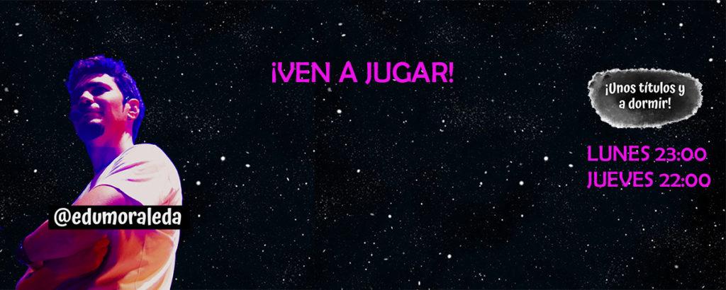 Edu Moraleda vuelve con su show online Unos títulos y a dormir - Lunes 23h. Jueves 22h.